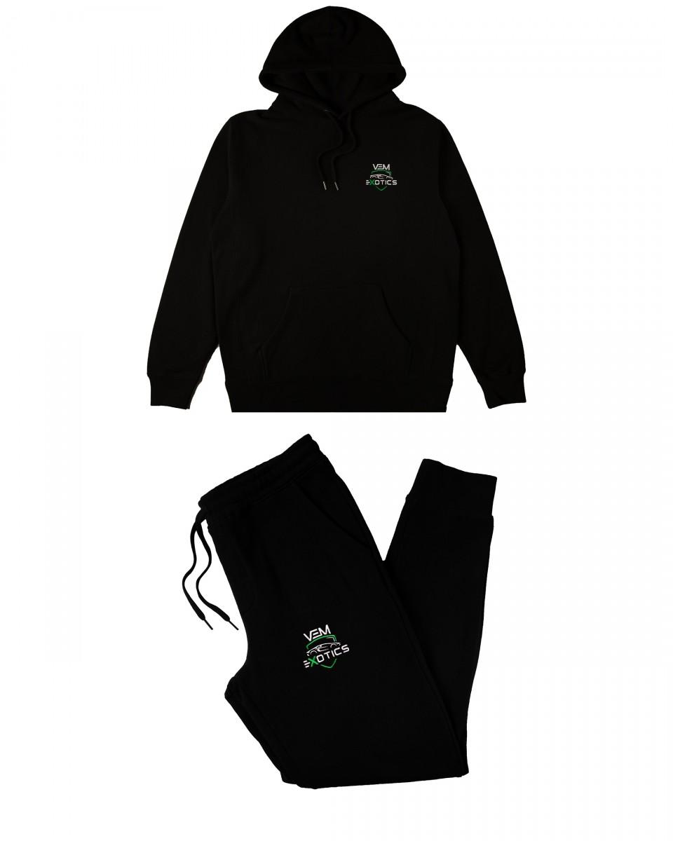 Buy VEM Sweats + Hoodie Combo (Black)